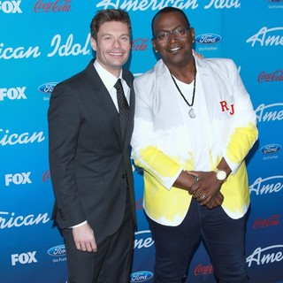 Ryan Seacrest in FOX's American Idol Finalists Party - seacrest-jackson-american-idol-finalists-party-02