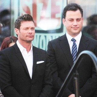 Ryan Seacrest, Jimmy Kimmel in Ellen DeGeneres Is Honored with A Star on The Hollywood Walk of Fame