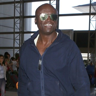 Seal in Seal Arrives at Los Angeles International Airport