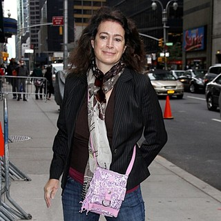 Sean Young Arrives for The Late Show with David Letterman