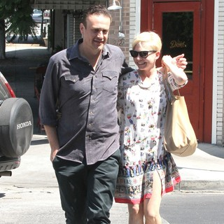 Jason Segel, Michelle Williams in Jason Segel and Michelle Williams Are Seen Leaving Little Dom's in Los Feliz
