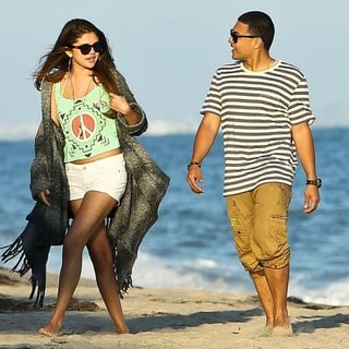 Selena Gomez in Selena Gomez Celebrates Ashley Tisdale's 27th Birthday on The Beach