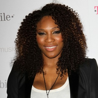 Serena Williams in Celebrity Magenta Carpet Arrivals at The Launch Party for Google Music Available on T-Mobile