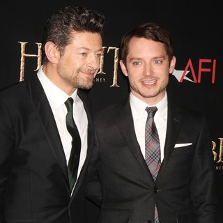 Andy Serkis, Elijah Wood in Premiere of The Hobbit: An Unexpected Journey