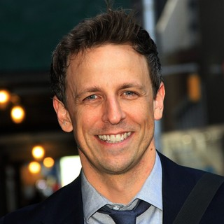 Seth Meyers in Celebrities for The Late Show with David Letterman