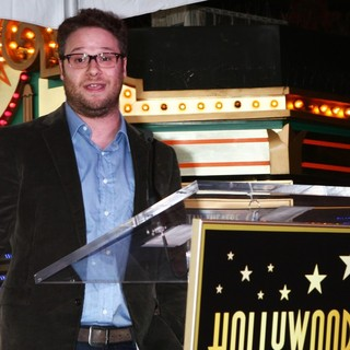Seth Rogen in James Franco Is Honoured with A Hollywood Star on The Hollywood Walk of Fame