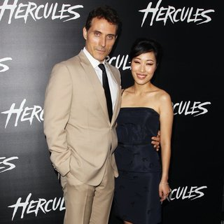 Rufus Sewell, Ami Komai in Los Angeles Premiere of Hercules - Arrivals