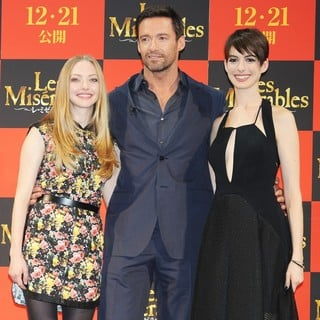 Amanda Seyfried, Hugh Jackman, Anne Hathaway in The Japan Premiere of Les Miserables