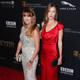 Jane Seymour, Katherine Flynn in 2014 BAFTA Los Angeles Jaguar Britannia Awards Presented by BBC America and United Airlines