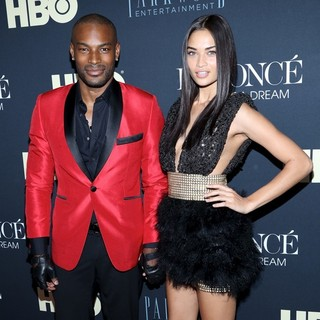 Tyson Beckford, Shanina Shaik in Beyonce: Life Is But a Dream New York Premiere