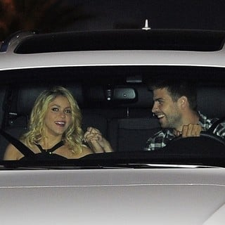 Shakira, Gerard Pique in Shakira and Gerard Pique Arriving at The FC Barcelona Players' Party