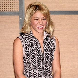 Shakira Receives The Title of Chevalier des Arts et des Lettres by Frederic Mitterrand