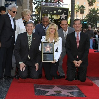 William Mebarak Chadid, Nidia del Carmen Ripoll Torrado, Leron Gubler, Shakira, Eric Garcetti in Shakira Is Honoured with A Star on The Hollywood Walk of Fame