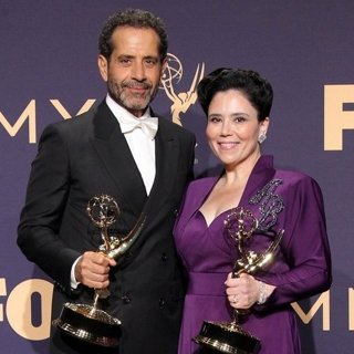 Tony Shalhoub, Alex Borstein in 71st Emmy Awards - Press Room