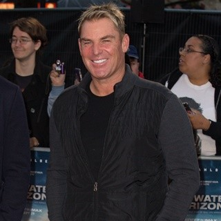 Shane Warne-European Premiere of Deepwater Horizon