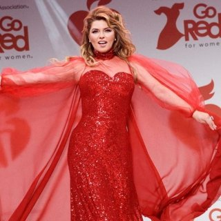 Shania Twain in 2020 Go Red for Women Red Dress Collection - Runway