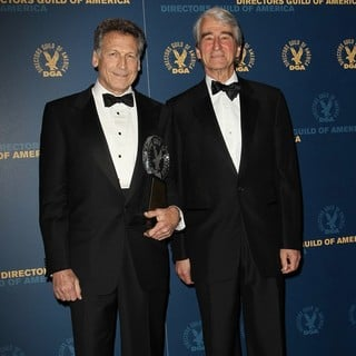 Eric Shapiro, Sam Waterston in 65th Annual Directors Guild of America Awards - Press Room