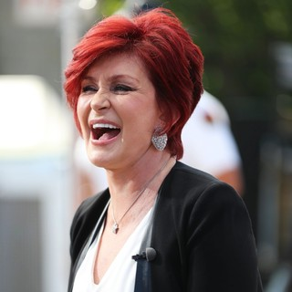 Sharon Osbourne Appears on The Extra TV Show