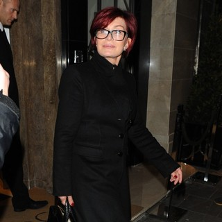 Sharon Osbourne in Sharon Osbourne Leave Claridge's Hotel