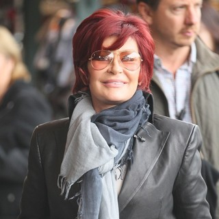 Sharon Osbourne in To Film A Segment for The Show Extra