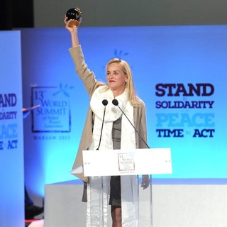 Sharon Stone in 13th Summit of Nobel Prize Winners