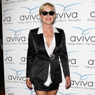 Sharon Stone in Aviva's Annual A Gala Fundraiser
