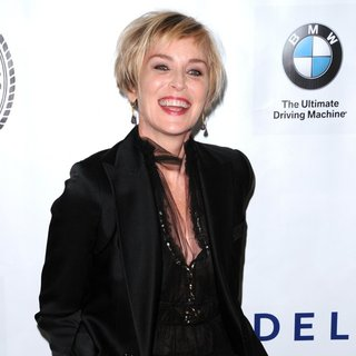 Sharon Stone in Friars Foundation Gala Honoring Robert De Niro and Carlos Slim - Red Carpet Arrivals
