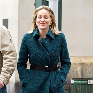 Sharon Stone in On the set of 'Law & Order: Special Victims Unit' filming