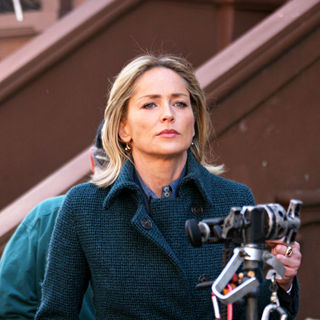 Sharon Stone in On the set of 'Law and Order: Special Victims Unit'