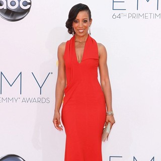 Shaun Robinson in 64th Annual Primetime Emmy Awards - Arrivals