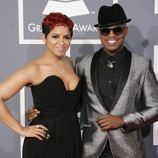 Monyetta Shaw, Ne-Yo in 55th Annual GRAMMY Awards - Arrivals