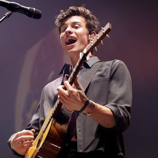Shawn Mendes in Shawn Mendes Performing at Manchester Arena