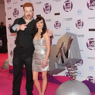 Sheamus, Ashley Rickards in The MTV Europe Music Awards 2011 (EMAs) - Press Room