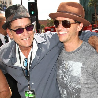 Charlie Sheen, Clifton Collins Jr. in Slash Honored with A Star on The Hollywood Walk of Fame