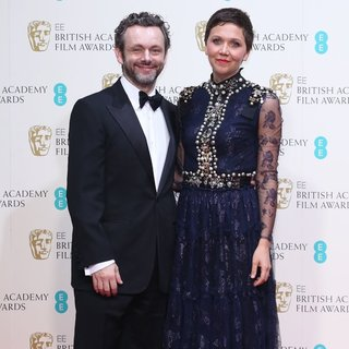 Michael Sheen, Maggie Gyllenhaal in EE British Academy Film Awards 2014 - Press Room