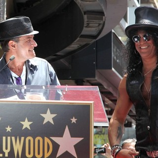 Charlie Sheen, Slash in Slash Honored with A Star on The Hollywood Walk of Fame