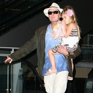Charlie Sheen - Charlie Sheen Taking His Daughter Sam to The Cinema