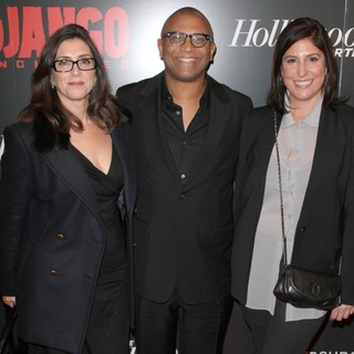 Stacey Sher, Reginald Hudlin, Pilar Savone in The Premiere of Django Unchained