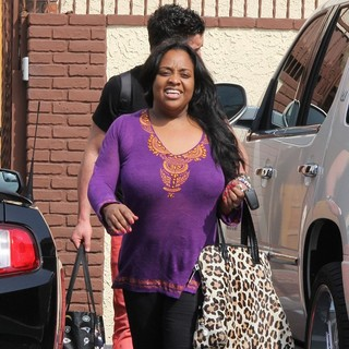 Sherri Shepherd in Celebrities Arrive at The Rehearsal Space for Dancing with the Stars