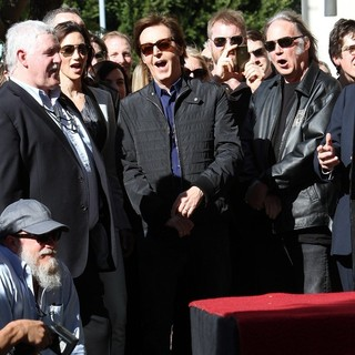 Neil Young in Paul McCartney Honored with A Star on The Hollywood Walk of Fame - shevell-mccartney-young-paul-mccartney-walkof-fame-02