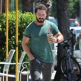 Shia LaBeouf in Shia LaBeouf Goes Out for An Ice Coffee