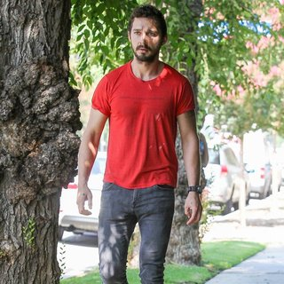Shia LaBeouf in Shia LaBeouf Leaves An AA Class
