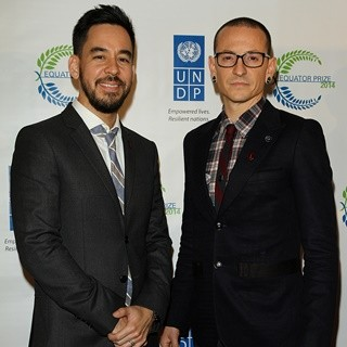 Mike Shinoda, Chester Bennington, Linkin Park in United Nations Equator Prize 2014