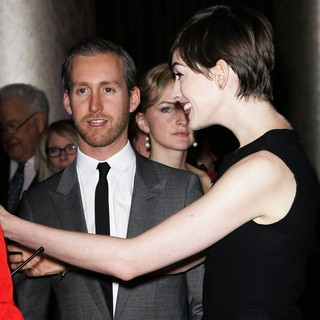 Adam Shulman, Anne Hathaway in 85th Academy Awards Nominees Luncheon