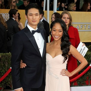 Harry Shum Jr., Shelby Rabara in 19th Annual Screen Actors Guild Awards - Arrivals