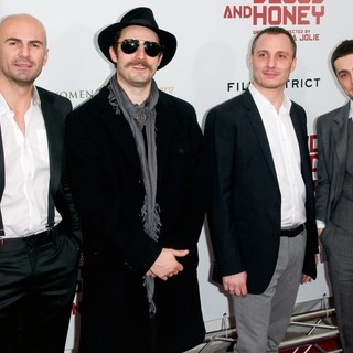 Ermin Sijamija, Nikola Djuricko, Milos Timotijevic, Boris Ler in Premiere of In the Land of Blood and Honey - Arrivals