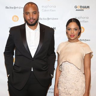 Justin Simien, Tessa Thompson in 24th Annual Gotham Independent Film Awards - Arrivals