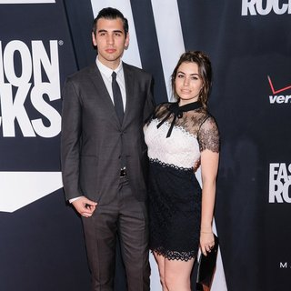 Nick Simmons, Sophie Simmons in Fashion Rocks 2014 - Red Carpet Arrivals