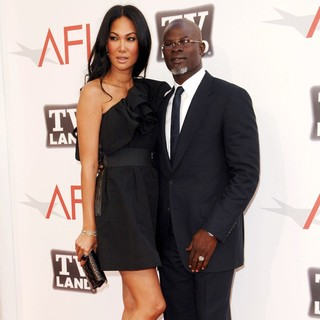 Kimora Lee Simmons, Djimon Hounsou in 2011 TV Land Presents AFI Life Achievement Award Honoring Morgan Freeman