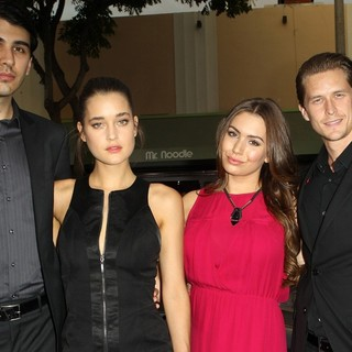 Nick Simmons, Sophie Simmons, Nick Marshall in Getaway Los Angeles Premiere